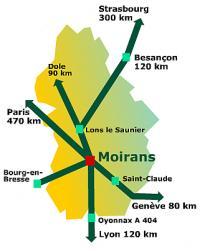 Situer Moirans-en-Montagne